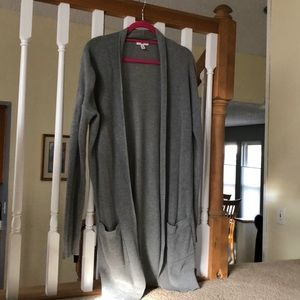 BP Gray Long Cardigan size small Great Condition!